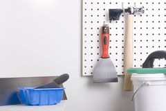 Plastering tools Royalty Free Stock Photography