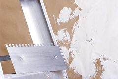 Plastering trowel Royalty Free Stock Images
