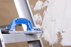 Plastering trowel Stock Image