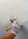 Plastering using a trowel Stock Photography