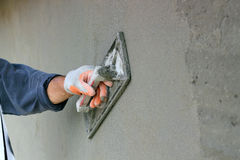 Plastering A Wall Royalty Free Stock Image