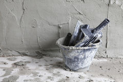 Plastering wall Royalty Free Stock Image