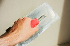 Plastering a wall Royalty Free Stock Photography