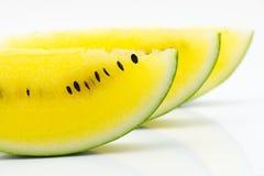 Plasterka koloru żółtego arbuz Zdjęcia Stock