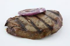 plasterka piec na grillu cebulkowy tuńczyk Obrazy Stock