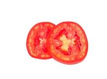 Plasterka pomidor odizolowywający na białym tle Zdjęcie Stock