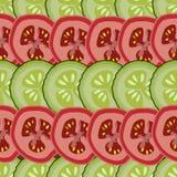 Plasterki, abstrakcjonistyczny seemless wzór, wektor, zieleń, czerwień, i ilustracja wektor