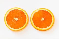 Plasterki cara cara pomarańcze z swój różowawym czerwonego koloru inte obraz stock