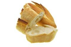 Plasterki chleb na białym tle obraz royalty free