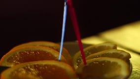 Plasterki cytryna i pomarańcze zbiory
