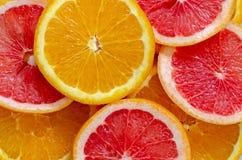 Plasterki Grapefruitowy, cytryna i pomara?cze, zdjęcia stock