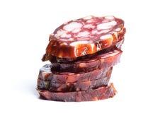 Plasterki grubas suszą salami zdjęcie royalty free