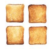 Plasterki grzanka chleb zdjęcie royalty free