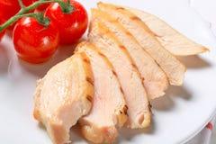 Plasterki kurczak piec na grillu pierś zdjęcia royalty free