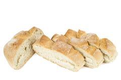 Plasterki Świeży chleb Obrazy Stock