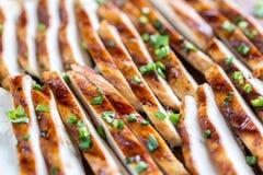 Plasterki piec na grillu kurczak w wapno kumberlandzie Fotografia Royalty Free