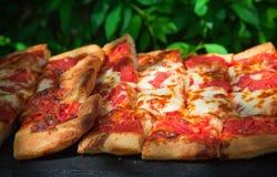 Plasterki pizza Zdjęcia Royalty Free