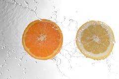 Plasterki pomarańcze i cytryna obraz royalty free