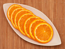 Plasterki pomarańcze Zdjęcia Stock