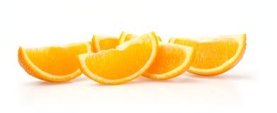 plasterki pomarańczowe obraz stock