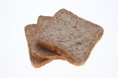 Plasterki Wholemeal grzanki chleb Zdjęcie Stock
