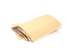 Plasters. Some plaster stripes are isolated Royalty Free Stock Image