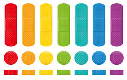 Plasters Colors Adhesive Bandage Collection Stock Images