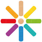 Plasters Colors Fun Sun Flower Collection Stock Image