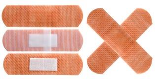 Plasters set isolated on white Stock Image