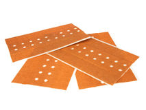 Several plasters on a white background Stock Images