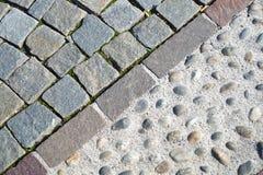 Plasterung des Granits Eindrucksvolle Weitwinkelansicht Lizenzfreie Stockbilder