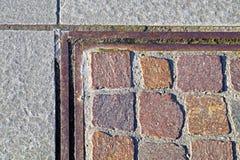 Plasterung des Granits Eindrucksvolle Weitwinkelansicht Lizenzfreies Stockbild