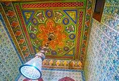 plasterwork在Manial宫殿,开罗,埃及 库存照片