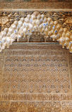 Plasterwork, Alhambra palace in Granada, Spain Stock Photos