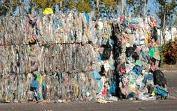 Plastic återanvändning royaltyfria foton