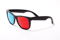 Plastic 3D glasses over white Stock Image