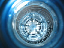 Plastic. A look into the plastic bottle Royalty Free Stock Photos