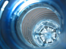 Plastic. A look into the plastic bottle Royalty Free Stock Images