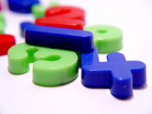Plastic Aantallen Royalty-vrije Stock Foto