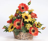 Plastic acrylic flower arrangement Royalty Free Stock Photography