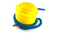 Plastic air pump  isolated on white Royalty Free Stock Photo