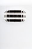Plastic air vent in white wall ventilation grille Stock Photography