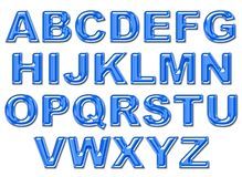 Plastic alphabet. In blue color(path is saved Royalty Free Stock Images