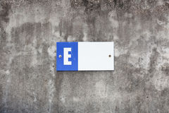 Plastic alphabet E block, letter E Royalty Free Stock Images