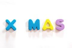 Plastic alphabet letter set for chrismas day. Royalty Free Stock Photography