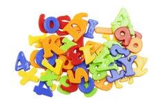 Plastic alphabet letters Stock Photography