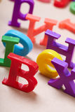 Plastic alphabet letters Royalty Free Stock Images
