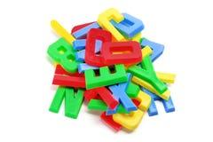 Plastic Alphabets. On White Background Stock Images