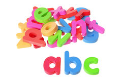 Plastic Alphabets Royalty Free Stock Photos