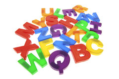 Plastic Alphabets Stock Photography